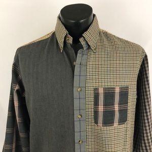 Brooks Brothers 1818 Brooks Flannel Shirt Green M